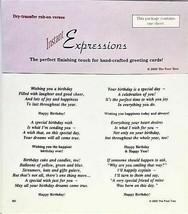 Instant Expressions Dry Rub-On Verses, Birthday