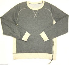 RARE Mens Lululemon Crew Neck Sweatshirt w/ Zipper Detail in Gray L XL -... - $54.75