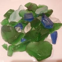 Sea Glass, Decorative Accent Gems, Green Blue White Stones, 11oz bag image 4