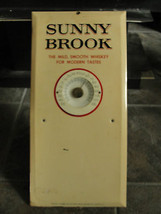 Sunny Brook advertising sign, thermometer, metal, old, calendar, distillary - $123.03