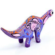 Handmade Alebrijes Oaxacan Wood Carved Folk Art Brontosaurus Dinosaur Figurine image 4