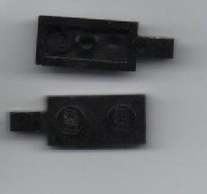 Two Black Lego 1x2 Plate with Clamp. - $0.98