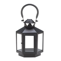 Black Hexagonal Candle Lantern - $25.32