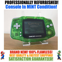 *NEW GLASS SCREEN* Nintendo Game Boy Advance GBA Clear Green System MINT... - $54.40