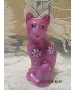 FENTON ART GLASS RASPBERRY STYLIZED CAT FIGURINE GSE LIMITED EDITION #2/15 - €206,30 EUR
