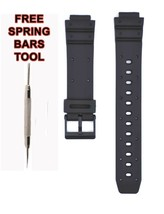 Compatible Casio TGW-10 20mm Black Rubber Watch Strap CAS127 - $14.84