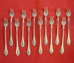 12 Sterling Silver Paul Revere Cocktail or Seafood Forks by Towle (#2298) - $375.00