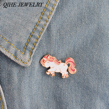 Personalized Horse Pony Enamel Pin Brooch Pins Up Little Girls Jewelry L... - $7.99