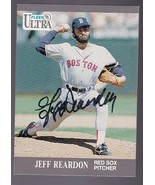 JEFF REARDON AUTOGRAPHED CARD 1991 FLEER ULTRA BOSTON RED SOX - $3.58