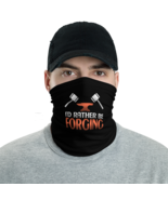 Black I'd rather be forging Tube Bandanna Neck Gaiter face mask and neck... - $21.95