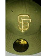 San Francisco SF Giants hat 3d New Era cap 59fifty Multiple Green w GOLD SF - $34.99