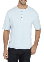 Saddlebred XL Henley Tee Shirt S/S Soft Comfort Stretch Fabric Blue  Ms... - $13.85