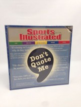 Board Game Sports Illustrated Don't Quote Me Edition Game Night 2005 Sealed - $19.59