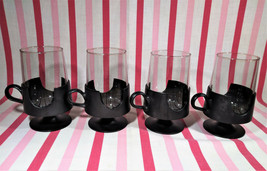 Groovy 4pc Mid Century Modern Glas-Snap by Corning Glass Pedestal Mugs - $20.00