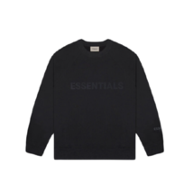 [FOG Essentials] 3D Silicon Applique Crewneck - Dark Slate/Black (2020) - $199.98