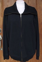Nwt Talbots Woman Full Zip Sweater Cotton Blend Black Plus Size 3X - $31.99