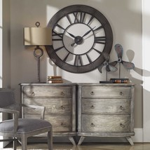 Restoration Hardware Style Round Wall Clock Roman Numeral Xl - $276.21
