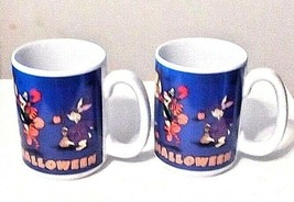 Disney Store Happy Halloween Mugs - Set of 2 - Pooh Piglet Eeyore Tigger  - $12.86