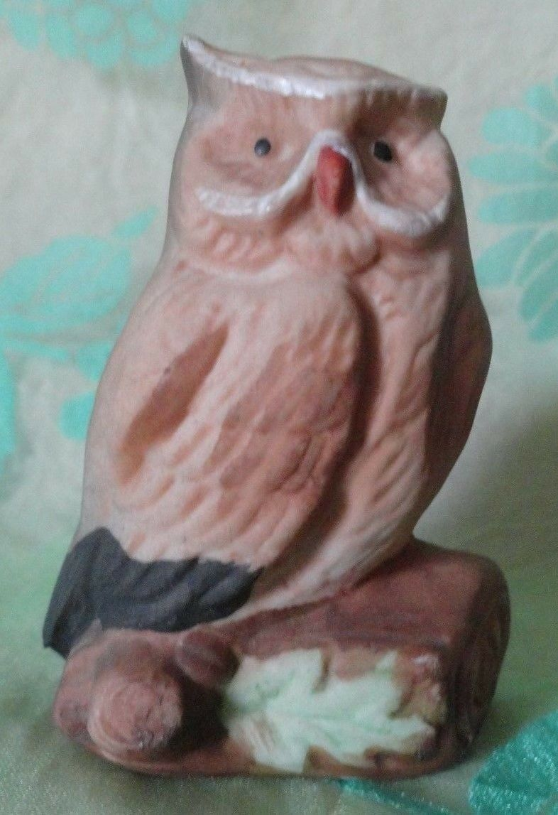 OWL miniature figurine TM Treasure Master Korea sticker 2 3/8 inches tall