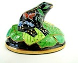 Lynn Chase Designs Hand Painted Porcelain Frog On Lily Pad Butterfly, Dragon Fly
