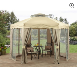 Outdoor Patio Gazebo 12x12 Backyard Canopy Shade Large Party Tent Yard S... - $226.80