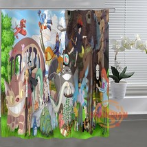 Studio Ghibli Totoro Custom Shower Curtain Bathroom Fabric For Bathroom ... - $45.61