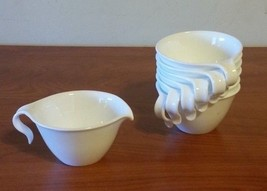 Corelle Frost White Hook Handle Stacking Coffee Cups  Set of 8 & Cre... - $19.80