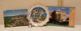 SOUTH DAKOTA SOUVENIR PLATE 2 POSTCARDS SPOON VINTAGE  - $15.98