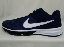 Nike Alpha Huarache Varsity Baseball Turf Shoes Sz 9 Men's Blue White AO... - $44.54