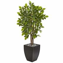 "Nearly Natural 57"" River Birch Artificial Black Planter Silk Trees Green - $234.87"