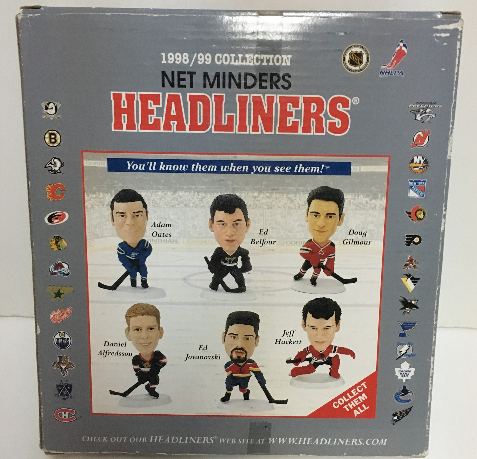 Hockey Headliners Collectibles 1998/99 Kolzig Hasek Osgood