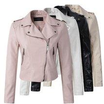 Trendy Motorcycle PU Leather Jacket Women - $71.00