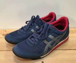 Asics Onitsuka Tiger HN201 Blue, Red & White Sneakers US Size 7 - $46.74
