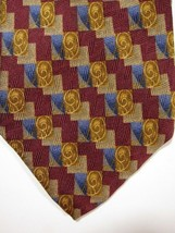 NEW Robert Talbott Studio Burgundy with Gold Swirls Silk Tie Handmade USA - $37.49