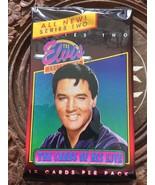 Elvis Presley Collectors Cards Blue Shirt 12 Cards Per Pack Never Open - $5.52