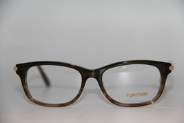 NEW TOM FORD TF 5237 098 BROWN EYEGLASSES AUTHENTIC RX TF5237 52-16 W/CASE image 2