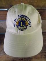 MD 23 Connecticut LIONS International Club Adjustable Adult Hat Cap  - $7.79