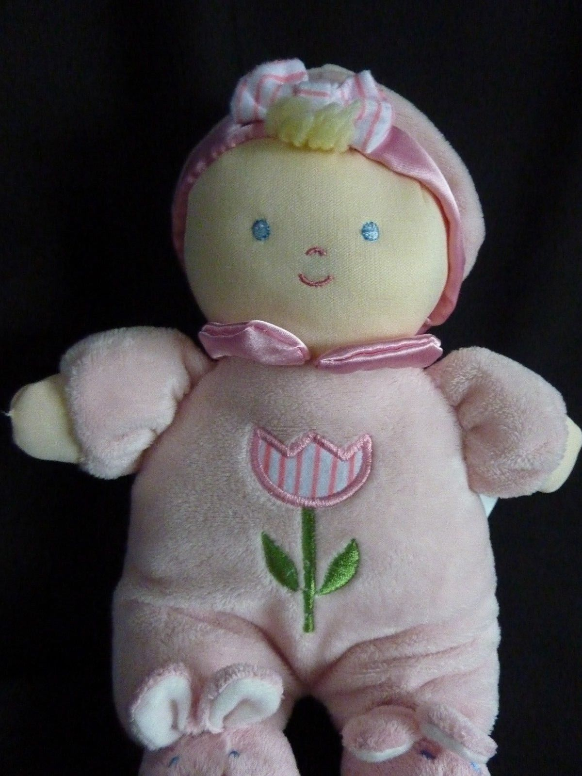 """Kids Preferred Pink Tulip Flower Plush Doll Bunny Slippers 12"""" Soft Toy Stuffed image 5"""