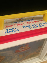 Fisher Price Giant Screen Music Box TV Two Tune/Stories Classic Toy 2009 image 4