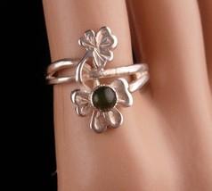 Vintage Blarney Stone Ring - Sterling silver English hallmarks wrap ring... - $95.00