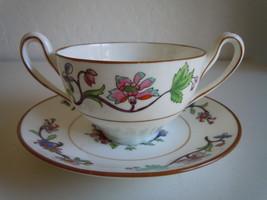 Coalport Flower Pot Bouillon Cup and Saucer Set - $47.51