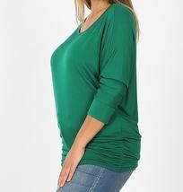 Plus Size Dolman Sleeve Tops, Plus Size Tops, Green Dolman Top, Womens Plus Size
