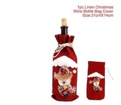 Christmas Decorations for Home Santa Claus Wine Bottle Cover - 22-3 - $12.99