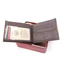 Levi's Men's RFID Blocking Two Tone Bifold ID Logo Brown Wallet 31LV240017 image 4