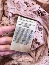100% AUTH NEW BURBERRY PINK LACE LADIES TRENCH COAT JACKET image 6