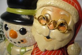Vaillancourt Folk Art, Santa and Snowman Signed by Judi Vaillancourt image 5