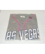 NIP LAS VEGAS NEVADA 51'S XL GRAY & PINK BREAST CANCER AAA BASEBALL JERSEY - $19.99