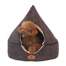 PLS Birdsong Pointy Dog Cave Cuddle Dog Bed, Soft Dog House, Two Modes, ... - $51.21