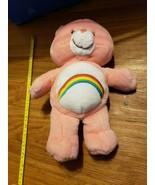 "Vintage Care Bears stuffed plush Cheer Bear Kenner rainbow pinkAPPX 15"" - $18.50"