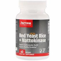 Jarrow Formulas, Red Yeast Rice + Nattokinase, 60 Veggie Caps - $37.94